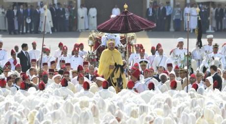 La cérémonie d'allégeance au roi du Maroc le 21 août 2012 à Rabat. REUTERS/Handout