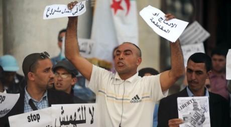 Manifestation à Alger le 29 avril 2012. AFP/FAROUK BATICHE