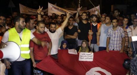 Manifestation contre le régime tunisien, Tunis, août 2012 © REUTERS/Zoubeir Souissi