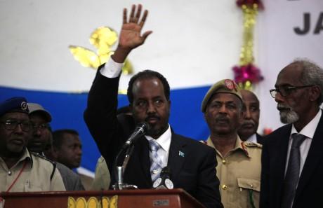 Le président somalien Hassan Cheikh Mohamud le 10 septembre, par Omar Faruk, Reuters