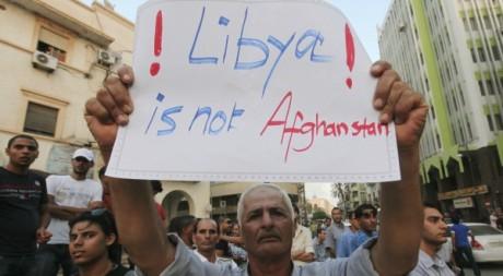 Manifestation contre à l'attentat de Benghazi du 12 septembre 2012. REUTERS/Esam Al-Fetori