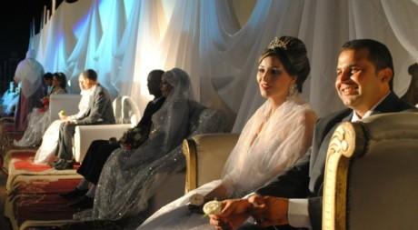 Des mariés, lors de la cérémonie de Ksar Saïd, près de Tunis. © Tous droits réservés