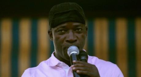 Charles Blé Goudé, lors d'un meeting à Abidjan, décembre 2010. © REUTERS/Thierry Gouegnon