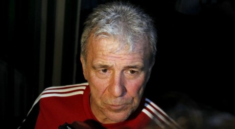 Eric Gerets, l&#039;entraneur des lions de l&#039;Atlas, le 26 janvier 2012,  Libreville. REUTERS/Thomas Mukoya
