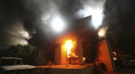 Le consulat des Etats-Unis à Benghazi après l'attaque du 11 septembre du 2012. © REUTERS/Esam Al-Fetori
