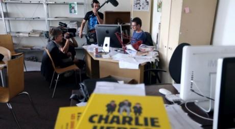 Le directeur de la publication de Charlie Hebdo au siège du journal, Paris, 1ç septembre 2012. ©THOMAS SAMSON / AFP