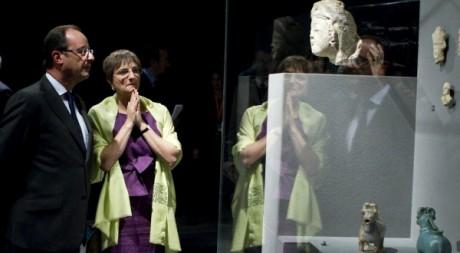 Le président Hollande à l'inauguration du nouveau département au Louvre, 18 septembre 2012.REUTERS/Gonzalo Fuentes