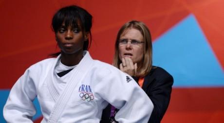 Priscilla Gneto aux Jeux Olympiques de Londres le 27 juillet 2012. AFP/JOHANNES EISELE