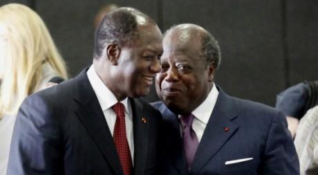 Alassane Ouattara et Charles Konan Banny, Abidjan , mai 2011. © REUTERS/Thierry Gouegnon