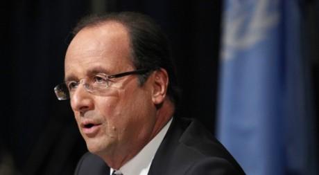 François Hollande lors d'une conférence à New York, 25 septembre 2012. © REUTERS/Eduardo Munoz