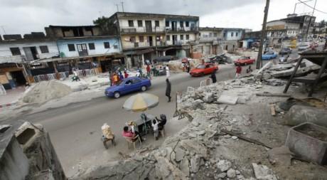 Le quartier Rue Princesse, pendant les travaux de démolition, août 2011. © REUTERS/Thierry Gouegnon