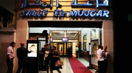 La salle El Mouggar, après la projection du film d'Alexandre Arcady, septembre 2012. © FAROUK BATICHE / AFP