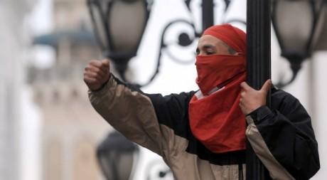 Manifestation d'habitants de Kasserine à Tunis le 25 janvier 2011. AFP/FETHI BELAID
