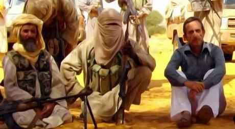 AQMI et un otage non identifié, le 30 septembre 2010, AFP photo Al ANDALUS