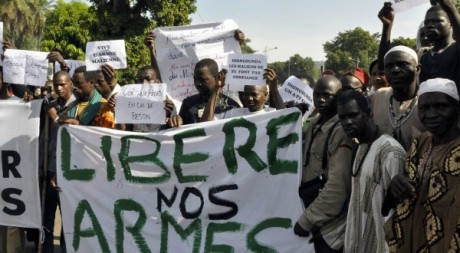 Manifestation le 18 octobre à Bamako,  AFP photo / Habibou Kouyate