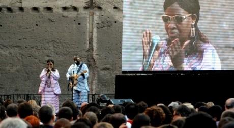 Amadou et Mariam lors d'un concert à Rome, juin 2011. © TIZIANA FABI / AFP