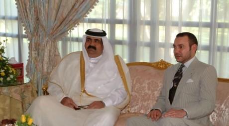 L'émir du Qatar et le roi du Maroc, Marrakech, 25 octobre 2002. © ABDUL LAZRAK / AFP