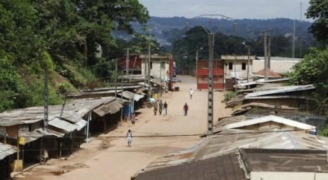 La ville de Noe, frontière Côte d'Ivoire-Ghana, septembre 2012. © REUTERS/Thierry Dricot