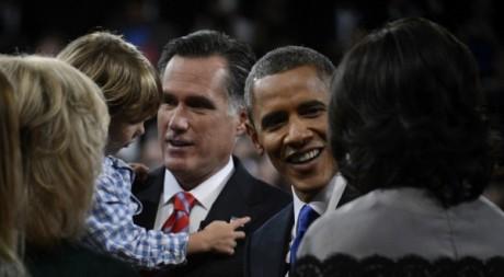 Les candidats à la Maison Blanche, après leur dernier débat du 22 octobre à Boca Raton. © REUTERS/POOL New