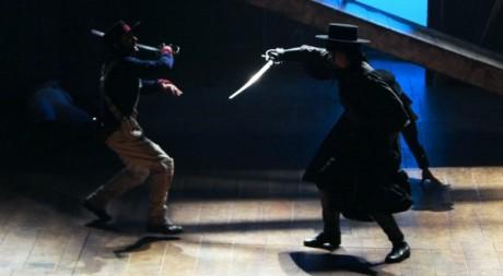 Représentation de Zorro dans un théâtre parisien, le 4 novembre 2009, photo AFP Jacques Demarthon