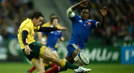 Fulgence Ouédraogo lors du match contre le XV d'Australie, 15 novembre. © FRANCK FIFE / AFP
