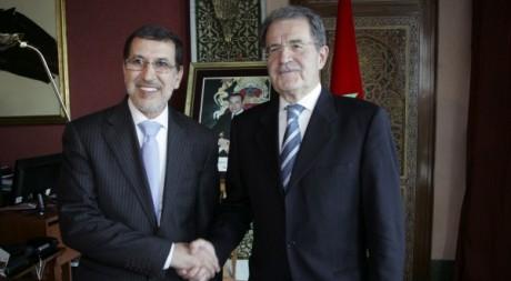 Romano Prodi, le représentant de l'ONU au Sahel lors de sa visite au Maroc, le 20 novembre 2012. REUTERS/Stringer .