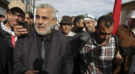 Le Premier ministre marocain Abdelilah Benkirane lors d'une manifestation de soutien pour Gaza, le 25 novembre 2012. REUTERS