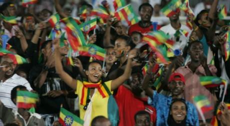 Des supporters de l'équipe de football éthiopienne lors des qualifications pour la CAN, le 8 septembre 2012. AFP/Ebrahim Hamid