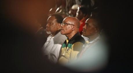 Jacob Zuma, au centre, pendant le congrès de l'ANC, Mangaung, 17 décembre. © REUTERS/Mike Hutchings.