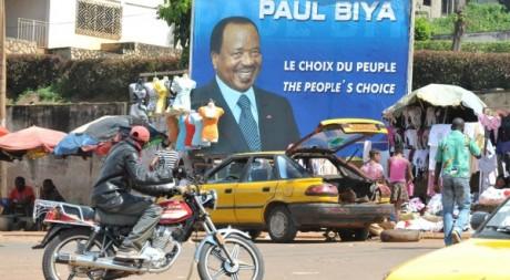 Une rue de Yaoundé, octobre 2011. © SEYLLOU / AFP