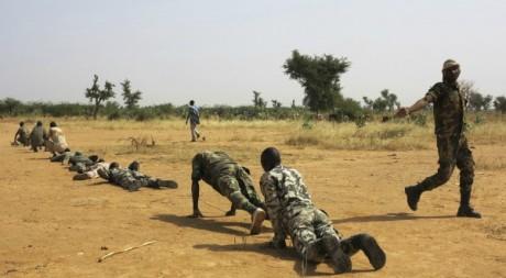 Séance d'entraînement de l'armée malienne, Sévaré, novembre 2012. © REUTERS/Stringer .