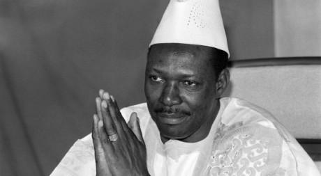 l'ex-président malien (1968-1991) à Bamako, en 1985. © FRANCOIS ROJON / AFP