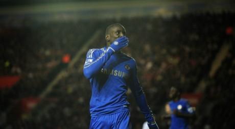 Demba Ba, le 5 janvier, lors de son premier match avec le Chelsea. © REUTERS/Kieran Doherty