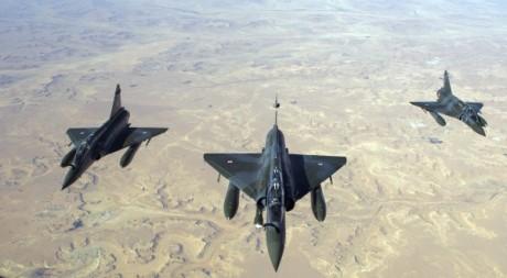 Mirage 2000 D français survolant le Mali, 12 janvier 2013 ©ECPAD/AFP