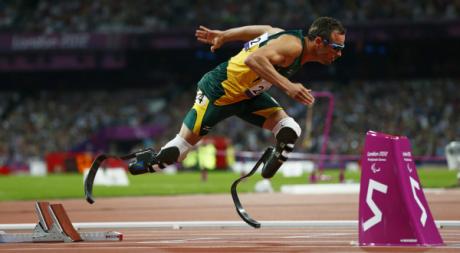 Le Sud-Africain Osacar Pistorius aux Jeux paralympiques de Londres, septembre 2012. © REUTERS/Eddie Keogh