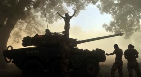 Soldats français à Nionno (Nord-Mali), 20 janvier 2013. © ISSOUF SANOGO / AFP