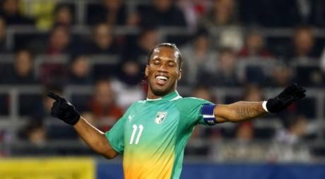 Didier Drogba, le 14 novembre 2012. REUTERS/Dominic Ebenbichler