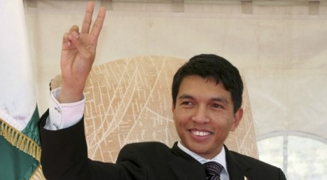 Andry Rajoelina le 4 septembre 2009  Antananarivo. REUTERS/Stringer