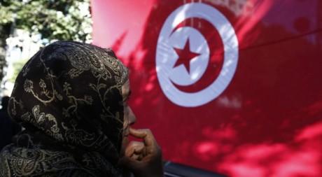 Une femme âgée lors d'une manifestation, à Tunis, le 13 janvier 2013. Reuters/Anis Mili