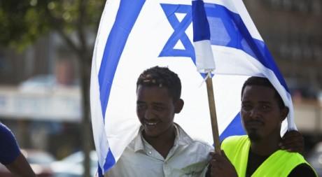 Des migrants érythréens manifestent à Tel-Aviv devant le ministère de la Défense, 18 octobre 2012. Nir Elias/Reuters