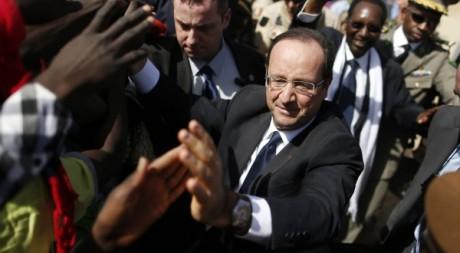 François Hollande le 2 février à Tombouctou. REUTERS/Benoit Tessier