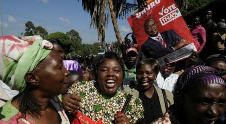 Des partisans d'Uhuru Kenyatta, Nirobi, 9 mars 2013/ AFP
