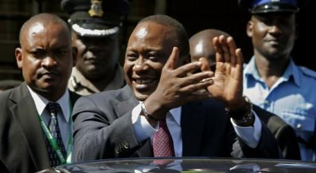 Uhuru Kenyatta, Nairobi, le 10 mars 2013. © AFP