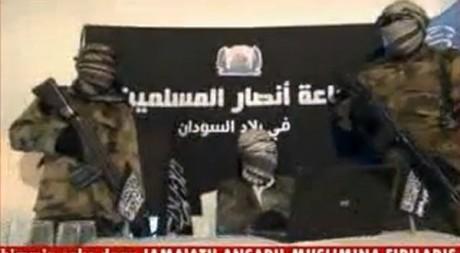 capture d'écran d'une vidéo diffusée sur Internet. © AFP