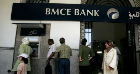 Entrée d'une banque, Rabat, juitllet 2008. © REUTERS/Rafael Marchante