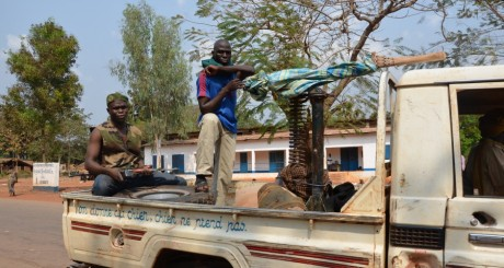 Des rebelles de la coalition Séléka, Bangui, janvier 2013 / AFP