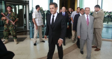 Nicolas Sarkozy, à Tripoli, septembre 2011 / Reuters