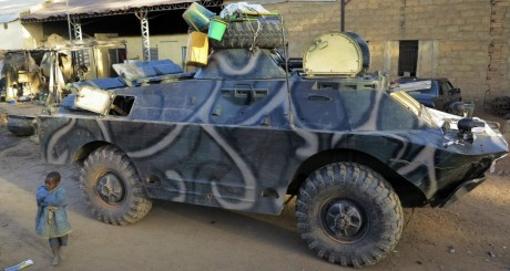 Base militaire malienne à Diabaly le 15 mars 2013.  le REUTERS/Adama Diarra