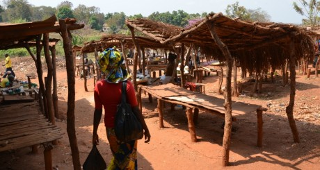 Un marché de Bangui, janvier 2013 / AFP