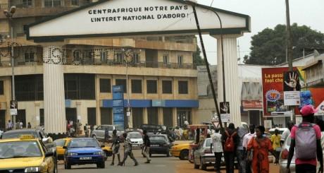 Le centre-ville de Bangui, 24 mars 2013 © SIA KAMBOU / AFP